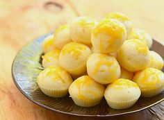 Cheese Puto are Filipino steamed cakes made with flour and topped with cheese