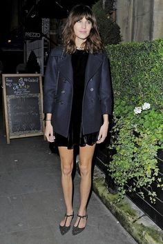 Alexa Chung in London on November 12, 2013.