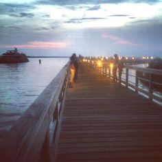 Pier at Baytown Warf, Sandestin Beautiful!!! i miss this. oh i could live there but no. no because i was happy and thats not allowed is it