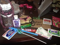Bachelorette goodie bags by my maid of honor