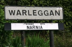 """Sign for the village of Warleggan reading that it is """"twinned with Narnia. St Bartholomew Church, Praa Sands, Welcome Holidays, St Just, No Rain, Cornwall England, St Ives, Narnia, Places Around The World"""