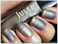 Julep Amber & Nora (suede finish) - swatched on cap $4 each, shipping 2 first item, .50 each additional