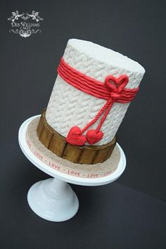 Hygge Valentines Cake by Deb Williams Cakes