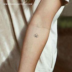 Small Minimalist Lotus Flower Temporary Tattoo (Set Of – Small . Small Minimalist Lotus Flower Temporary (Set of – Small small tattoos - Tattoo Tribal Tattoos, Dainty Tattoos, Tattoos Skull, Small Wrist Tattoos, Body Art Tattoos, Simple Ankle Tattoos, Tatoos, Simple Line Tattoo, Elephant Tattoos