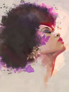 fyblackwomenart:  Lotus by VVernacatola  BGKI - the #1 website to view fashionable & stylish black girls