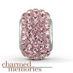 Charmed Memories® Swarovski Elements Charm Sterling Silver