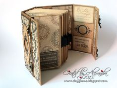 """Hello dear visitors! I'm excited to share another mini album I created using gorgeous Graphic 45 papers """"Craft Reflections"""". It's not a ne..."""