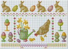 DIY Handmade: Wielkanoc - haft krzyżykowy, schemat