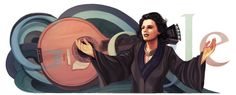 Amália Rodrigues' 91st Birthday [91 год со дня рождения Амалии Родригиш] /This doodle was shown: 23.07.2011 /Countries, in which doodle was shown: Portugal