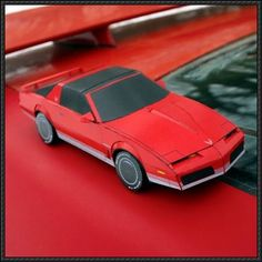 82-84 Pontiac Firebird Paper Car Free Vehicle Paper Model Download