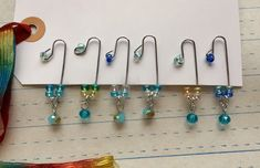 Excited to share this item from my shop: Beaded Paper Clips Paperclip Crafts, Wire Crafts, Paper Crafts, Paper Clips Diy, Paper Clip Art, Journal Paper, Junk Journal, Jungle Crafts, Paper Clothes