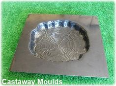 Log Stepping Stone Mould – Make Your Own From Concrete, Plaster Or Cement – we have over 500 different Moulds – Natural Playground İdeas Concrete Casting, Concrete Molds, Cement, Stepping Stone Pathway, Stepping Stone Molds, Decorative Stepping Stones, Faux Rock, Brick Molding, Mold Making