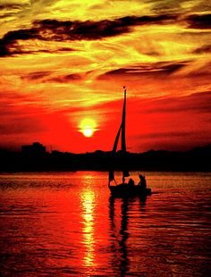 """""""#Sunset #Sailing No. 2"""" by Colin Hunt #LookTowardstheSky"""