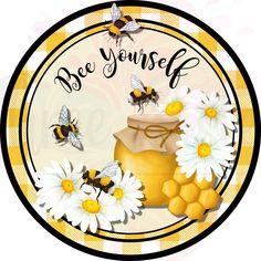 Primitive Painting, Cute Bee, Bee Art, Spring Sign, Bee Happy, Bees Knees, Me Time, Wreaths, Smile