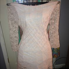 Lace boutique dress Worn a few times. Has a bow back! I do trade. Dresses