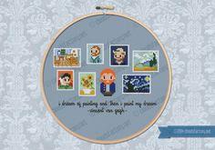 Mini Artitsts Galleries - Vincent Van Gogh cross stitch pattern