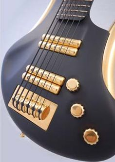 Futuristic looking guitars with matching cases...