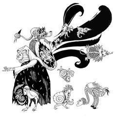 Illustrations for SNOB magazine (Russia, 2012) by Sveta Dorosheva, via Behance