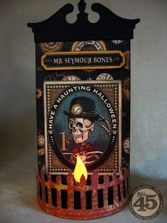Click to see more of the great tea light set from Annette using Steampunk Spells! Perfect for your Halloween decor! #graphic45