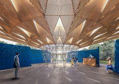 Serpentine Pavilion 2017 designed by Kéré Architecture, Design render 2 © Kéré Architecture
