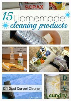 How to Make 15 Homemade Cleaning Products | MommaDJane