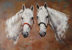 Painting - Two White Horses