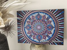 Acrylic dot mandala, handpainted on canvas Mandala Canvas, Mandala Dots, Mandala Design, Dot Art Painting, Mandala Painting, Mandela Art, Barn Quilts, Deco, Zentangle