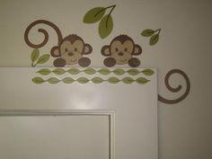 Cute monkey decal