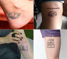 Tatuagem para quem ama livros!                                                                                                                                                                                 Mais