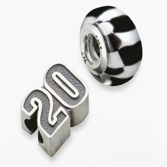 "Insignia collection nascar matt kenseth sterling silver ""20"" & checkered flag bead set on shopstyle.com"