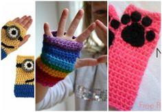 ¡Guantes a crochet! Protege tus manos de los días más fríos con esta idea. ¡Anota! Crochet For Kids, Fingerless Gloves, Arm Warmers, Knitting, Crafts, Diy, Free, Globes, Yarns