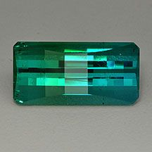 Colourfade tourmaline, blue green indicolite tourmaline