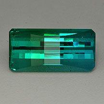 Colourfade tourmaline, blue green indicolite tourmaline