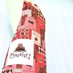 """Reversible Embroidered """"For the Love of Chocolate"""" apron with a pocket  by 4EverydayEmbellished, $33.00"""