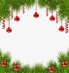 Creative Christmas Border Gratis PNG y Clipart Red Christmas Ornaments, Christmas Frames, Christmas Paper, Christmas Pictures, Christmas Decorations, Christmas Holiday, Free Christmas Borders, Christmas Templates, Christmas Clipart