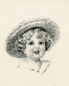 Today I'm sharing this Vintage Adorable Child in Straw Hat Image! This wide-eyed child is so cute in her straw hat. She has beautiful curls and an open mouth like she is singing. Her big eyes are sparkling in this pencil drawing. So nice to use in your Craft or Collage Projects! Have you joined...Read More »