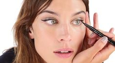 The Brilliant Eyeliner Trick You Haven't Heard Before - here's the trick: Clench your toes (really) and swipe on liner as you normally would.