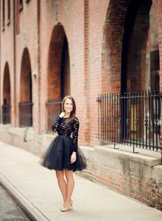 Black Lace Dress with Black Tutu. Style Me Pretty | Gallery & Inspiration | Picture - 1305901