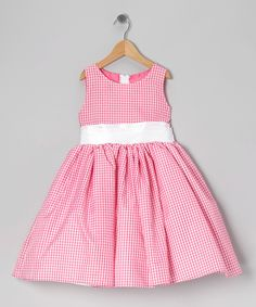 Pink Gingham Bow Dress