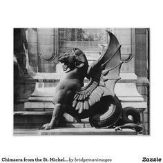 Chimaera from the St. Michel fountain, Paris Poster | Zazzle.com