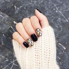 black, gold & geometrics