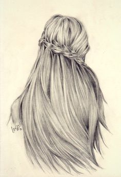 Amazingly detailed hair sketch with a braid crown