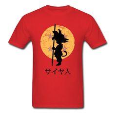 Kid Goku Dragon Ball Z Men's T-Shirt Tee Train Insaiyan Gohan Vegeta DBZ Ape Camisetas Tees Plus Size //Price: $38.00 & FREE Shipping //   #goku #anime