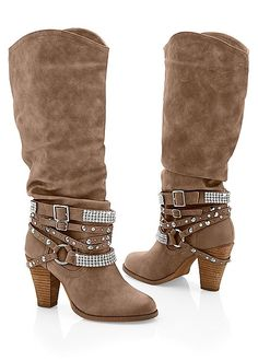 We're giving the classic country boot some glamour! Venus studded buckle boot.