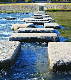 While there are traditional bridges across the Kamogawa River, the most exciting route from bank to bank is via a path of stepping stones. As you make your way, look closely — some are in the shape of turtles.