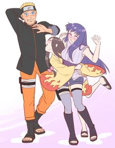 "naruhina and hanabi ""What are you doing with my sister, Naruto?"" Gotta love Hanabi"