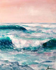 Coastal painting, ocean art. Color is everything!