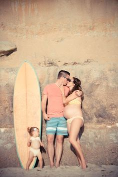 Celebrate your future surfer babe by hitting the sand.