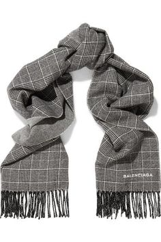 85a0b749a4f2 Balenciaga - Prince of Wales checked wool and cashmere-blend scarf