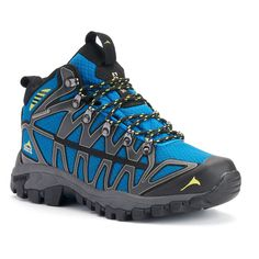 Pacific Mountain Ridge Men's Waterproof Hiking Shoes, Size: 11.5, Blue